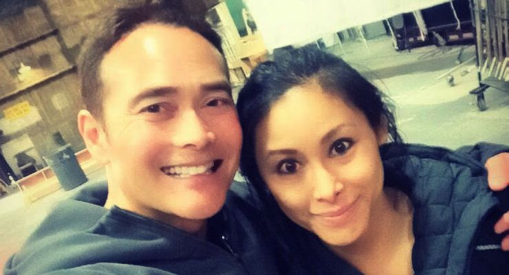 Lauren Mary Kim and Mark Dacascos