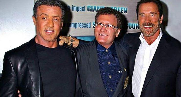 Sly Stallone, Dr. Bob Goldman, Arnold Schwarzenegger