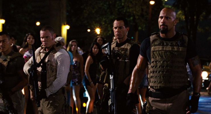 Geoff Meed with Dwayne Johnson in Fast Five (2011)