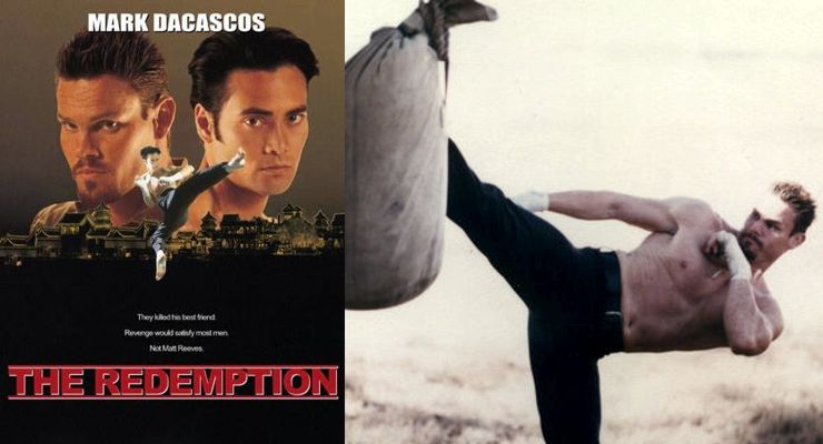 Mark Dacascos and Geoff Meed in The Redemption: The Redemption: Kickboxer 5 (1995).