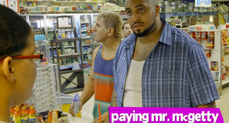 R Marcos Taylor and Rokki James in Paying Mr. McGetty