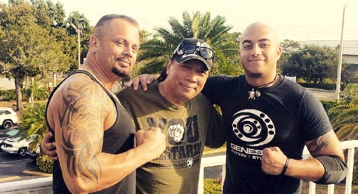 Fight Coordinator, John Kreng with part of the Stunt Team