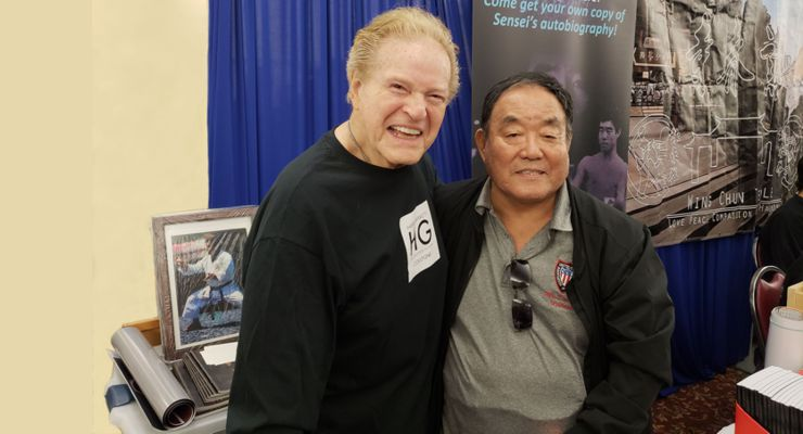 Hank Garrett and his instructor Fumio Demura