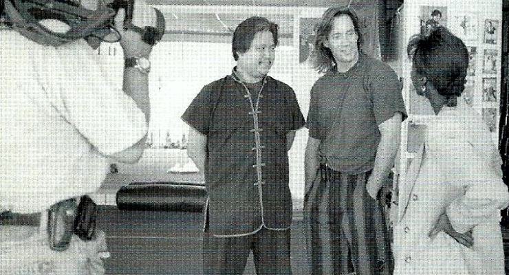 Doug Wong with Kevin Sorbo.