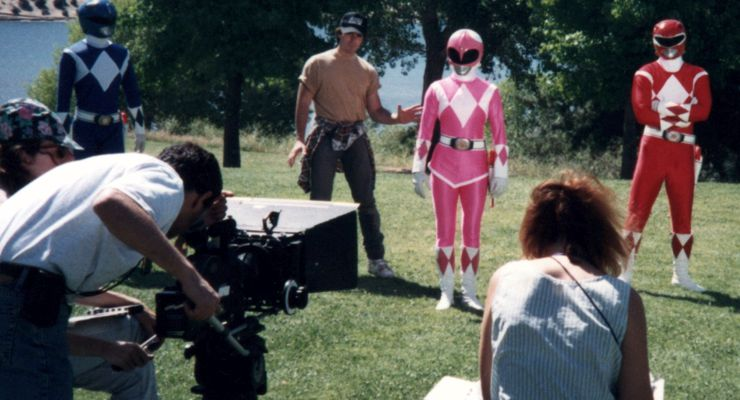 Jeff Pruitt directing the Pink Ranger