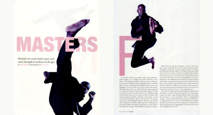 Esau McKnight in Living Magazine