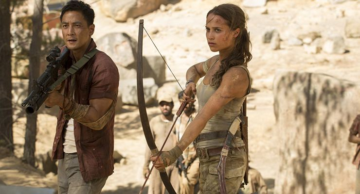 Daniel Wu and Alicia Vikander Tomb Raider (2018)