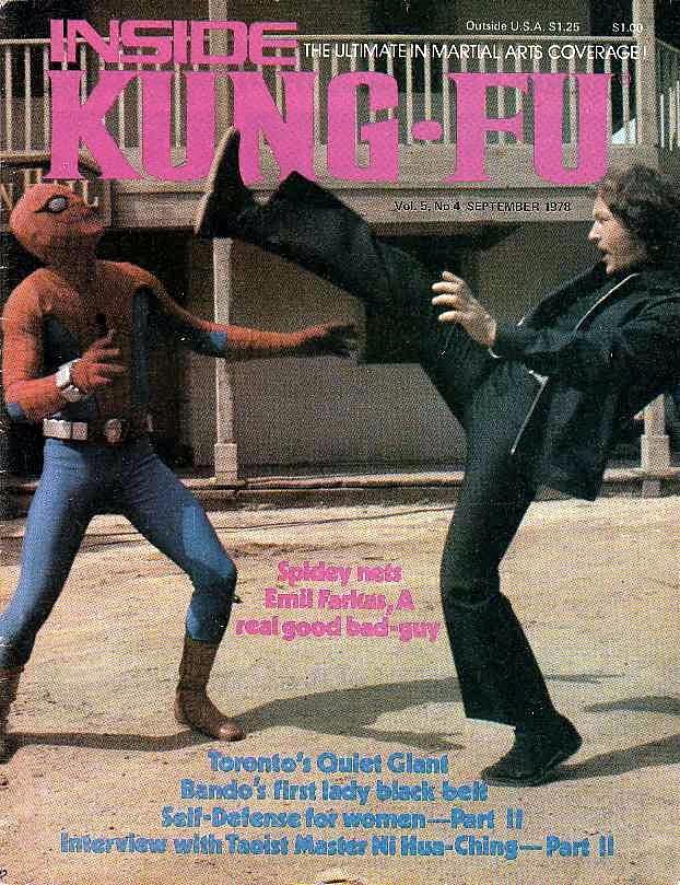 Inside Kung-Fu Cover Emil Farkas vs The Amazing Spider-Man