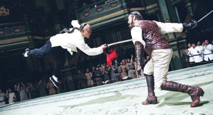 Jet Li and Anthony De Longis in Fearless (2006)