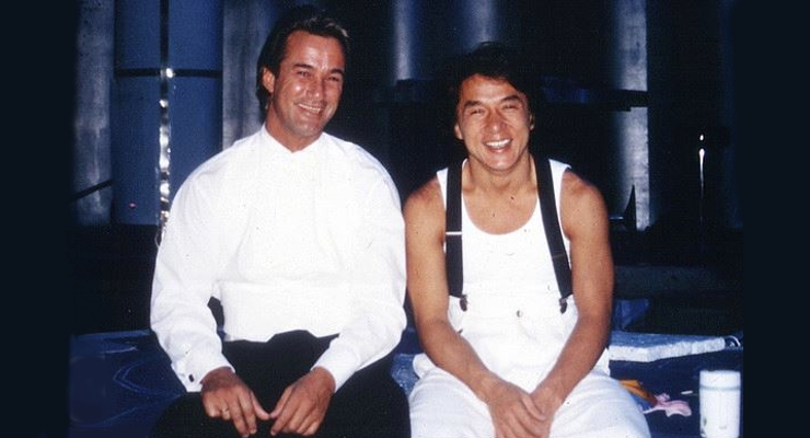 Richard Norton and Jackie Chan