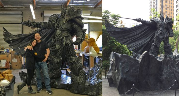 Arthas the Lich King Statue for Blizzard Entertainment's 25th Anniversary