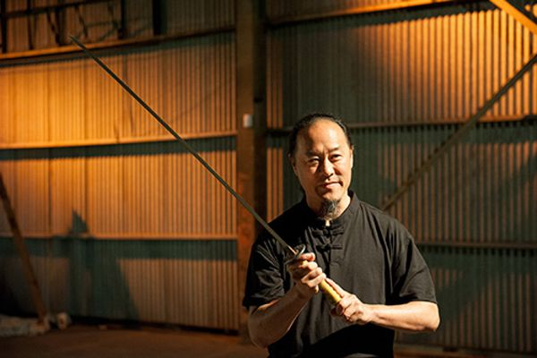 Gene Ching with a Baltimore Knife & Sword Katana