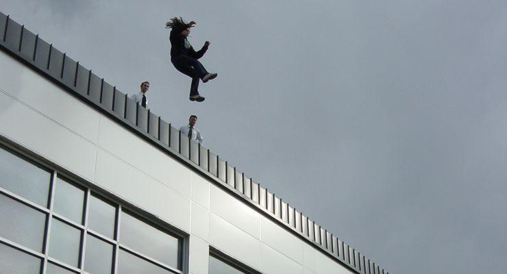 Sara Salazar High Fall Stunt