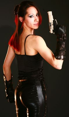 Sara Salazar with firearm