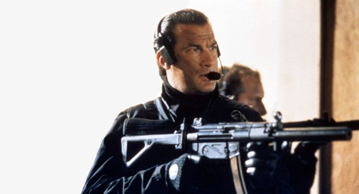 Steven Seagal with Firearm