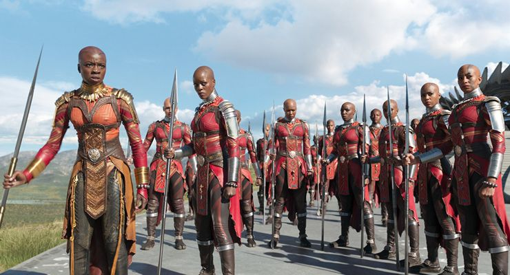 Florence Kasumba and Danai Gurira in Black Panther (2018)