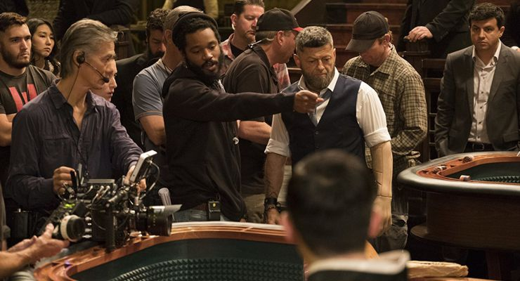 P. Scott Sakamoto, Andy Serkis, and Ryan Coogler in Black Panther (2018)