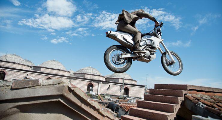 Skyfall Motorcycle Jump