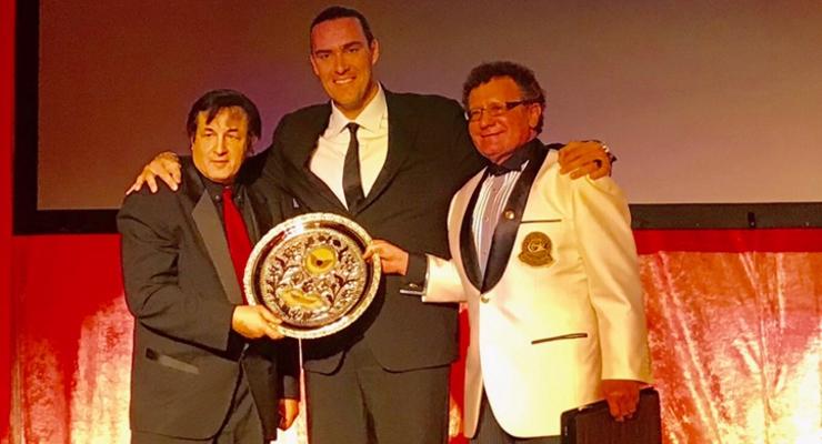 Michael DePasquale Jr, Alexander Nevsky - Breakout Action Star, and Dr. Robert Goldman at AOF 2018