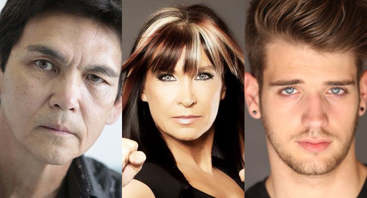Don Wilson, Cynthia Rothrock and Brandon Tyler Russell