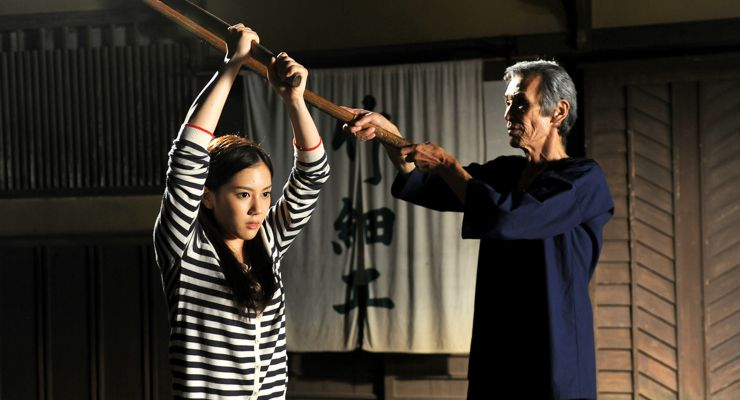 Seizô Fukumoto and Hana Ebise in Uzumasa Limelight (2014)