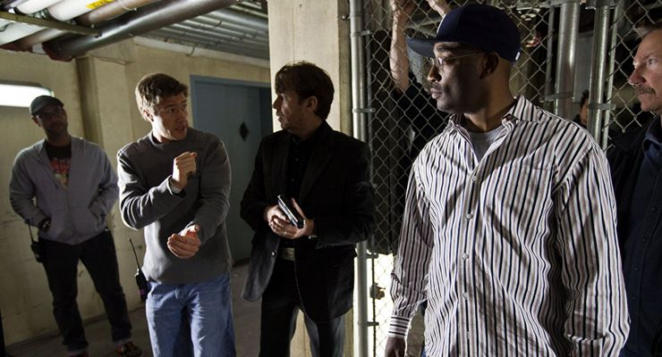 Billy Bob Thornton, Darrin Prescott, and George Tillman in Faster (2010)