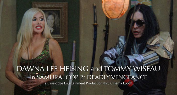 Dawna Lee Heising and Tommy Wiseau in Samurai Cop 2