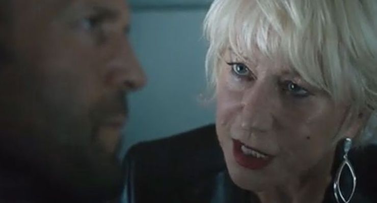 Helen Mirren in The Fate of the Furious (2017) as Mother of Jason Statham.
