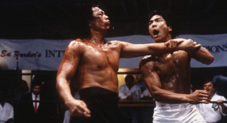 John Cheung and Jason Scott Lee in Dragon: The Bruce Lee Story