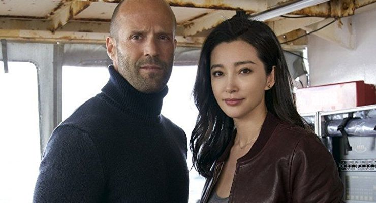 Jason Statham and Bingbing Li in The Meg (2018)