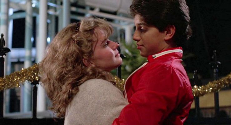 Elizabeth Shue as Ali and Ralph Macchio as Daniel in The Karate Kid (1984)