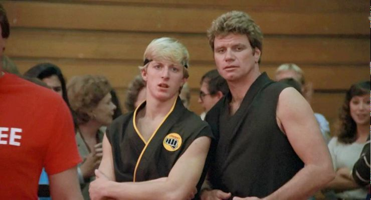 William Zabka and Martin Kove in The Karate Kid (1984)