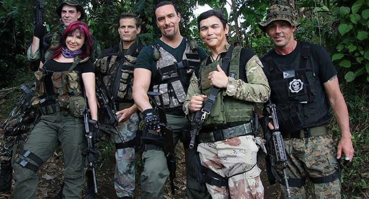 Casper Van Dien, Cynthia Rothrock, Olivier Gruner, Don Wilson, Dmitriy Dyuzhev, and Alexander Nevsky in Showdown in Manila (2016)