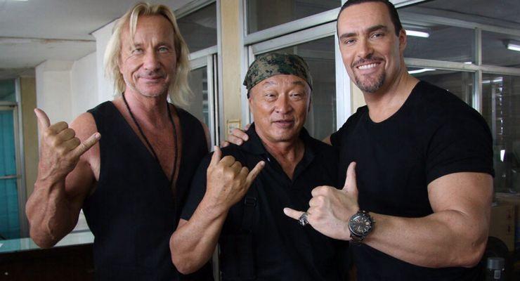 Matthias Hues, Cary-Hiroyuki Tagawa, and Alexander Nevsky in Showdown in Manila (2016)