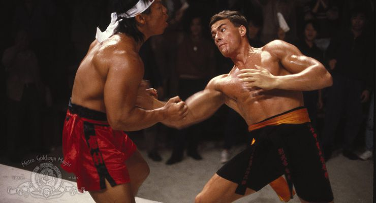 Bolo-Yeung and Jean-Claude Van Damme in Bloodsport (1988)