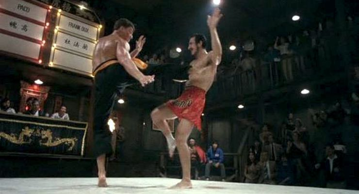 Jean-Claude Van Damme and Paulo Tocha in Bloodsport (1988)