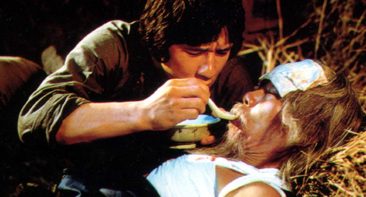 Jackie Chan and Dean Shek in Snake in the Eagle's Shadow (1978)