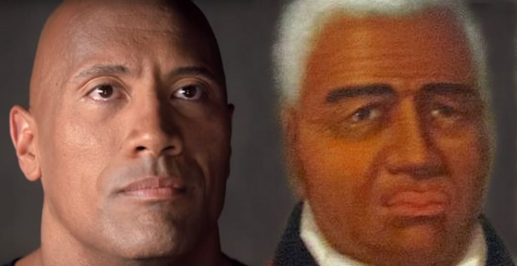 Dwayne Johnson and King Kamehameha