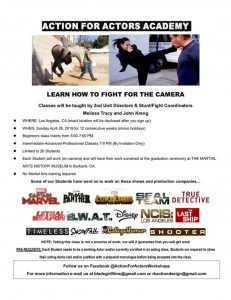 Action for Actors Academy Flyer