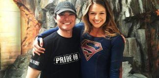 Supergirl Season 1 - David Wald and Melissa Benoist.