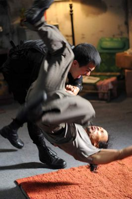Joe Taslim and Yayan Ruhian in Serbuan maut (2011)