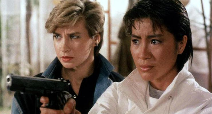 Cynthia Rothrock and Michelle Yeoh in Yes, Madam! (1985)