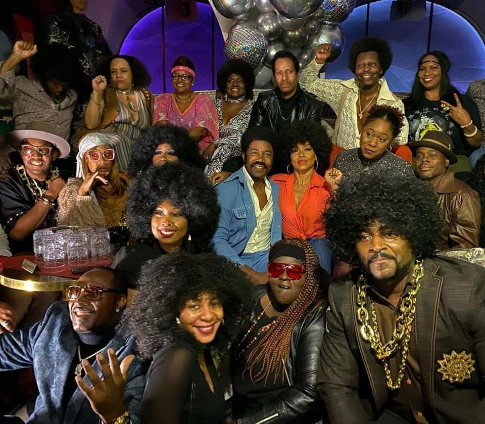 The Black Dynamite 10th Anniversary Throwback 70's Jam Group Photo