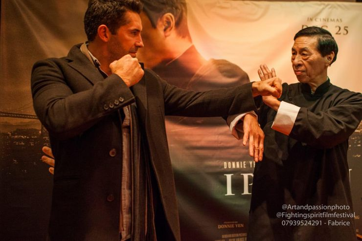 Scott Adkins and Grand Master Samuel Kwok at Ip Man 4 : The Finale (2019) Screening