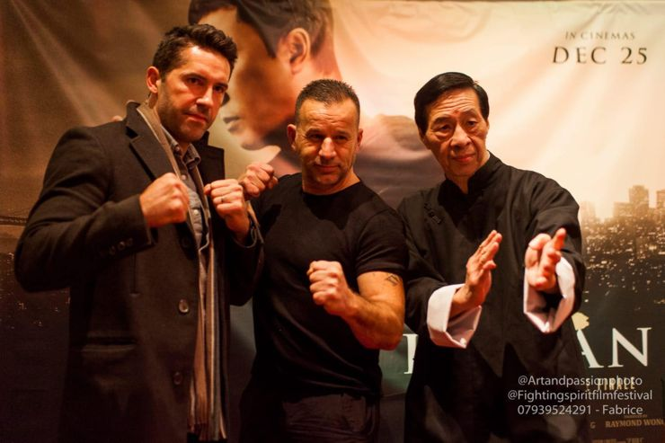 Scott Adkins, ? and GM Samuel Kwok at Ip Man 4 : The Finale Screening