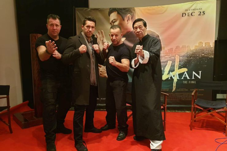 Mark Strange, Scott Adkins,?, GM Kwok at Ip Man 4 : The Finale Screening