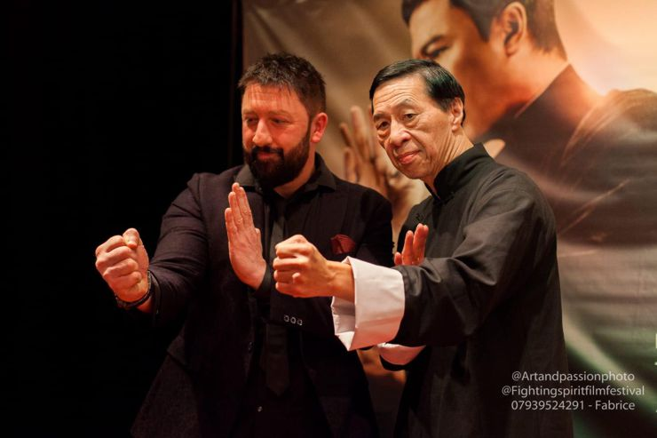 Mark Strange and Grand Master Samuel Kwok at Ip Man 4 : The Finale (2019) Screening