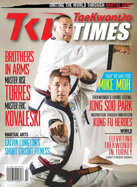 Eric Kovaleski on the cover of TaeKwonDo Times
